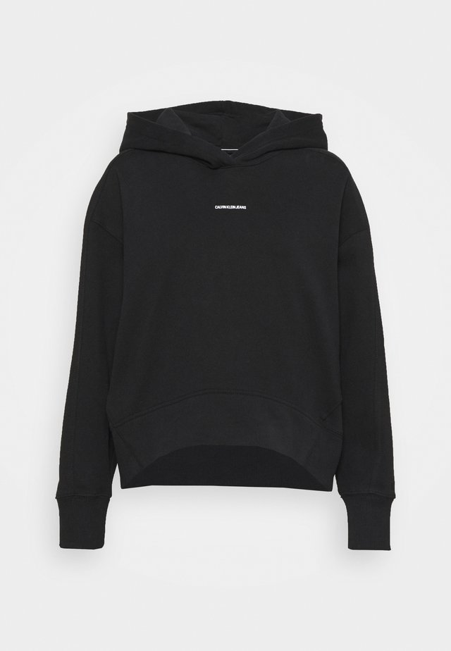 MICRO BRANDING HOODIE - Bluza - black