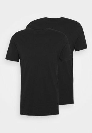 CREW NECK 2 PACK - Undershirt - black
