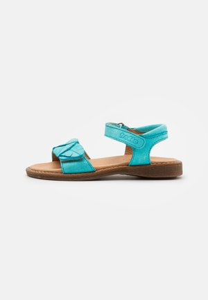 LORE LEAVES - Sandals - turquoise