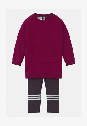 FAVOURITES SET UNISEX - Verryttelypuku - berry/white