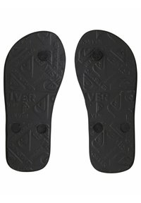 Quiksilver - MOLOKAI FLAME - T-bar sandals - black/black/yellow - 3