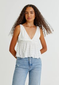 PULL&BEAR - Top - off white - 0