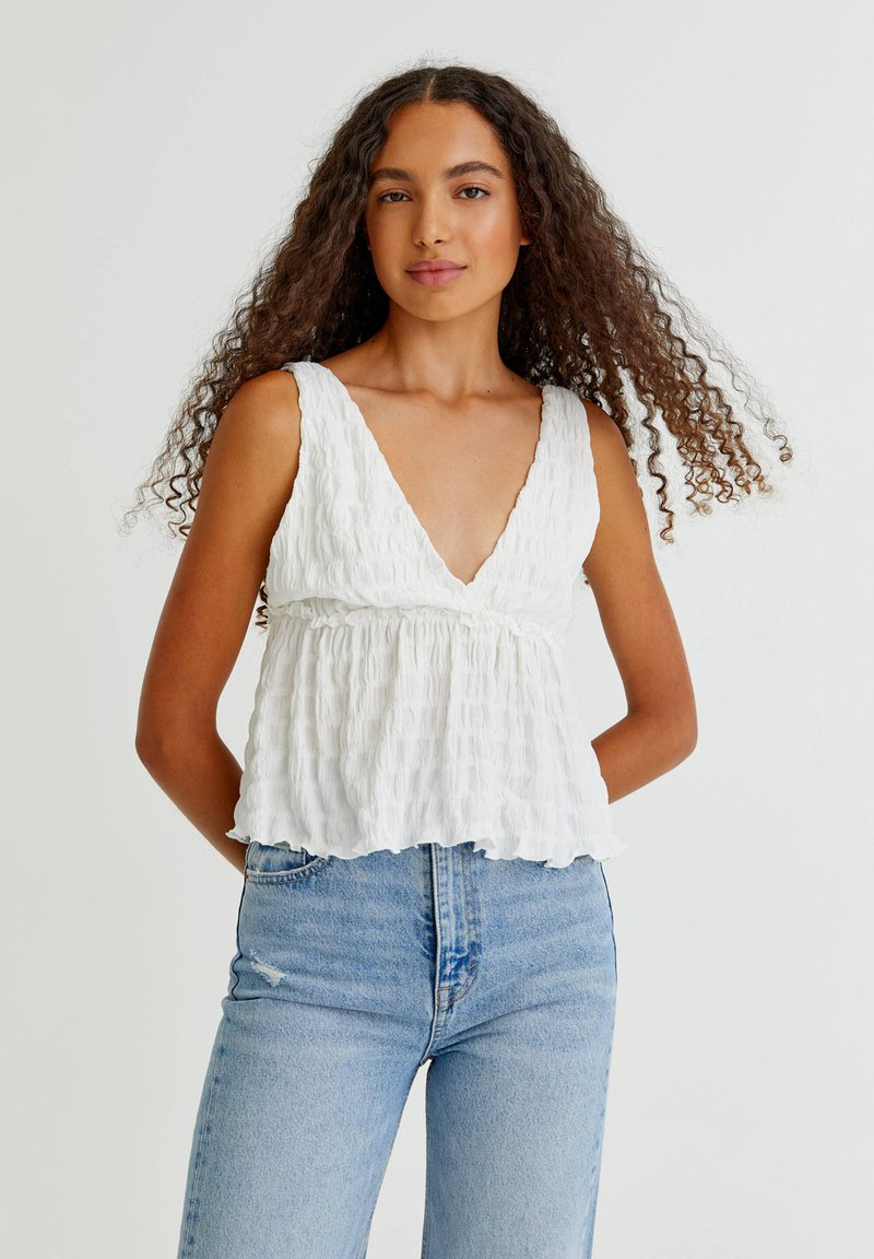 PULL&BEAR - Top - off white