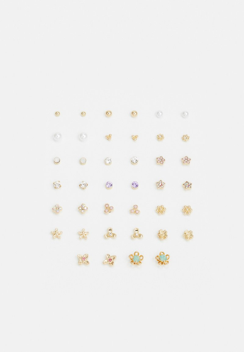 Pieces - PCHENRITTI EARSTUDS MEGA 20 PACK - Earrings - gold-coloured