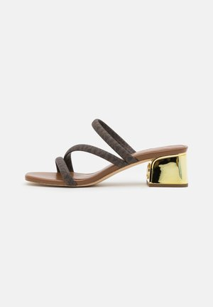 LANA MULE - Heeled mules - brown