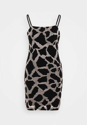 GIRFAFFE MINI SLIP - Pouzdrové šaty - black