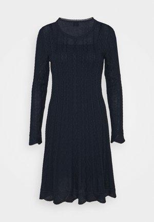ABITO - Stickad klänning - dark blue