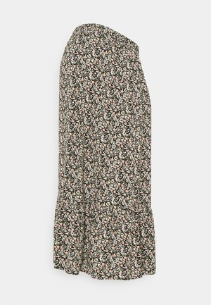PHINA  - A-line skirt - black/flowers