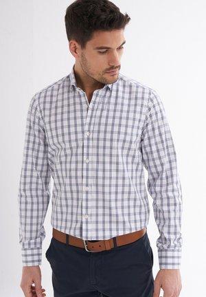 Shirt - white, blue