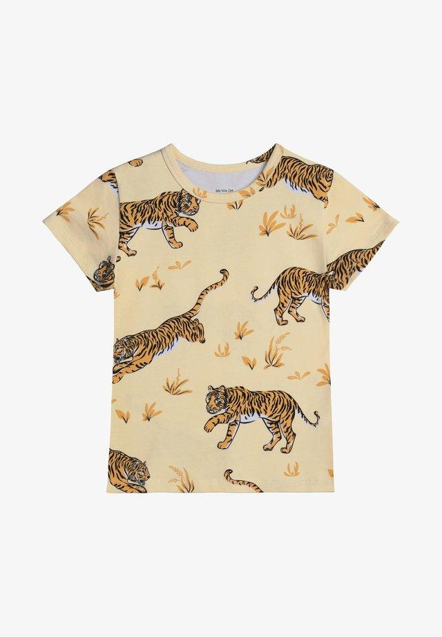 JUNO SS  CLASSIC TIGER - T-shirt print - sand