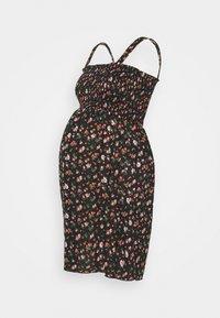 MAMALICIOUS - MLLILOZ SHORT DRESS - Jersey dress - black/red - 4