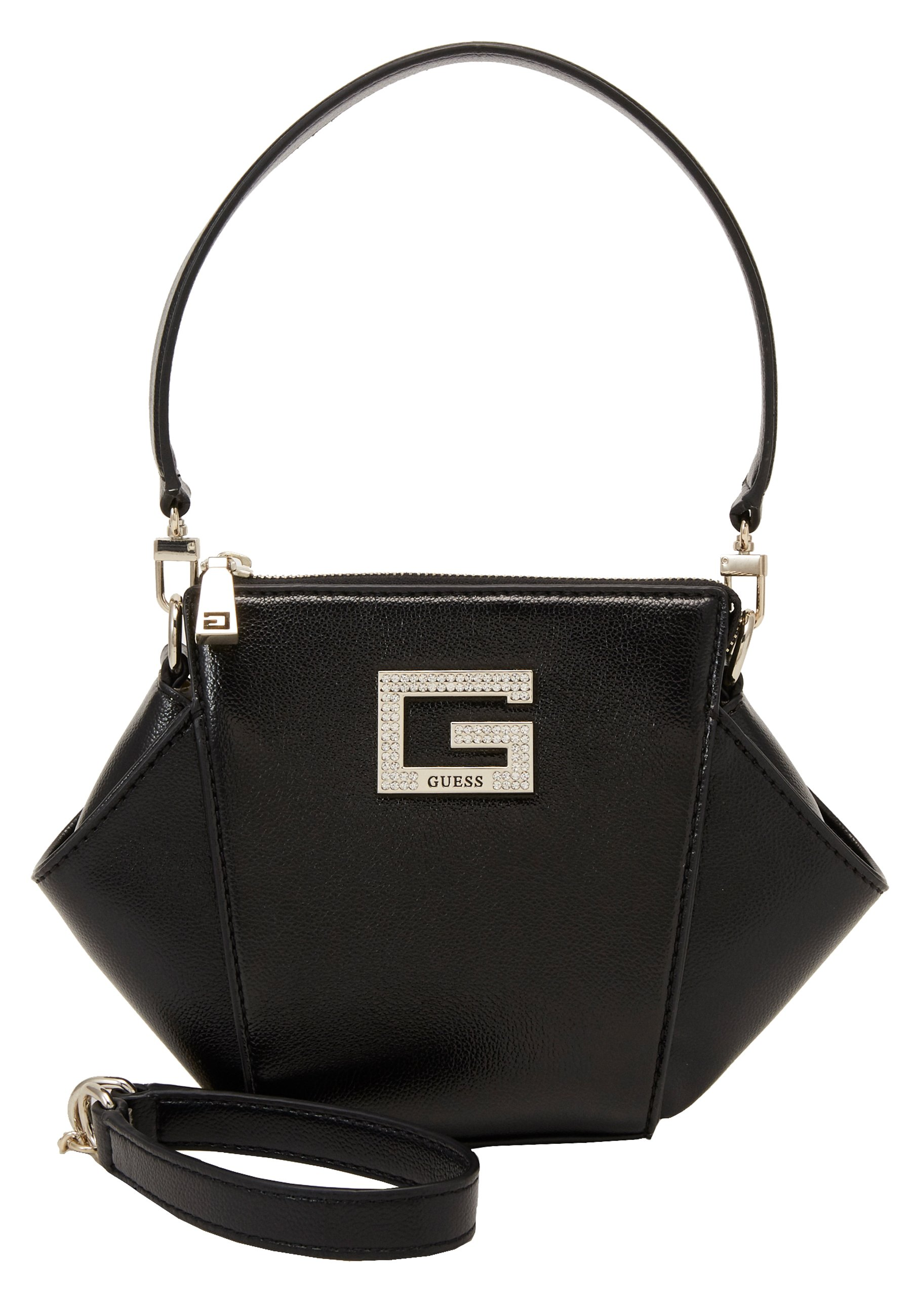 Guess DINNER DATE MINI SHOULDER BAG - Håndveske - black/svart 8MIHJh3bKxZr2Nh