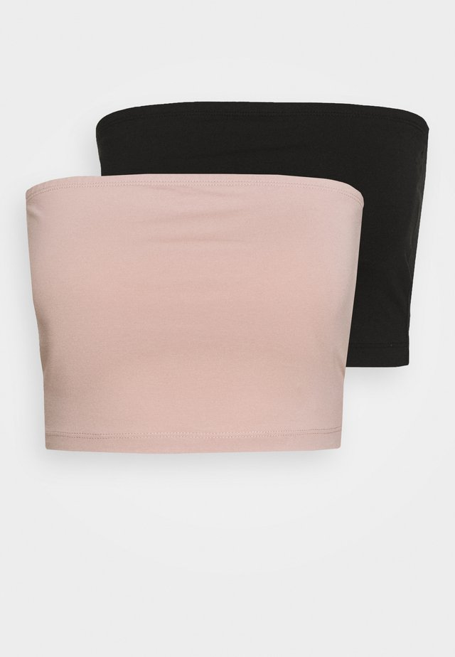 2 PACK - Top - black/pale mauve