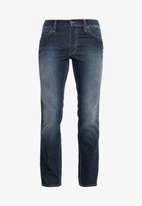 TRAMPER - Slim fit jeans - dark blue denim
