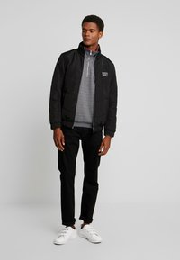 TOM TAILOR DENIM - LIGHT PADDED JACKET - Winter jacket - black/grey - 1