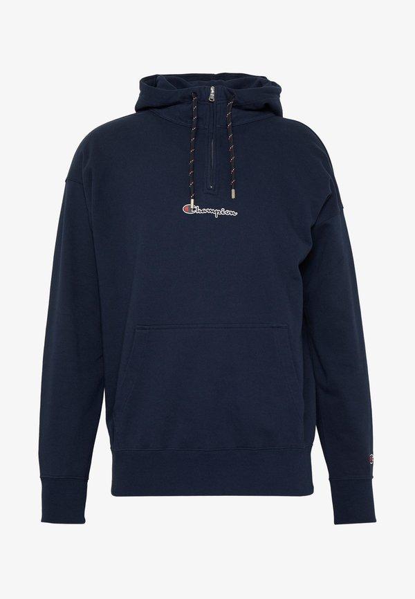 Champion Rochester ROCHESTER HALF ZIP HOODED - Bluza z kapturem - dark blue/granatowy Odzież Męska OANV