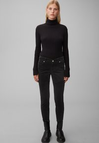 Marc O'Polo - ALBY  - Trousers - black - 1