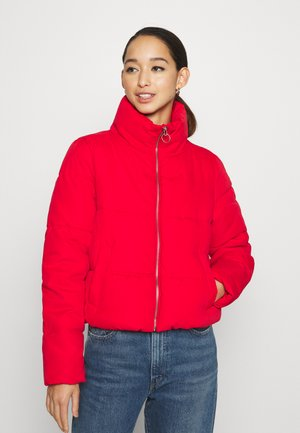 ONLDINA SHORT QUILTED PUFFER - Winter jacket - chinese red
