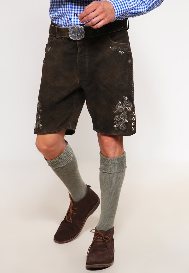 CORBI - Leather trousers - bison