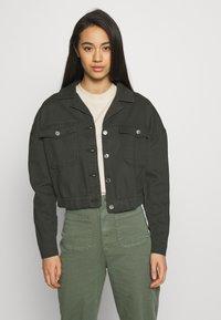ONLY - ONLNELL ELASTIC POCKET JACKET - Denim jacket - forest night - 0