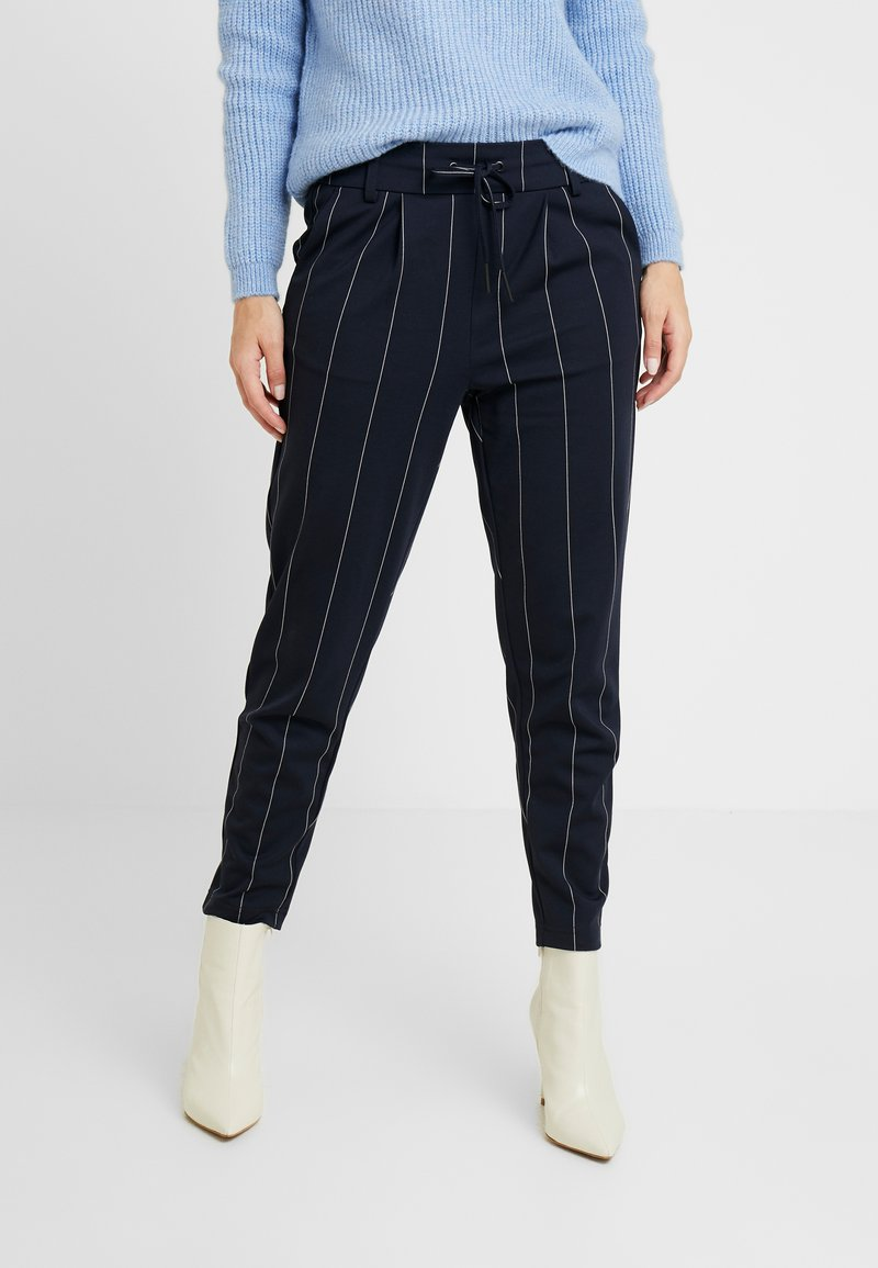 ONLY Petite - ONLPOPTRASH TEMPO STRIPE PANT - Trousers - night sky