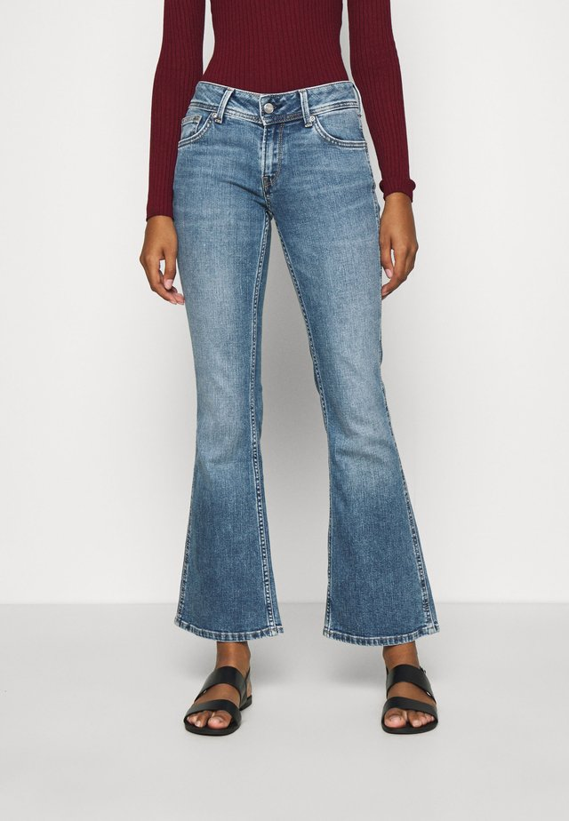 NEW PIMLICO - Flared jeans - blue denim
