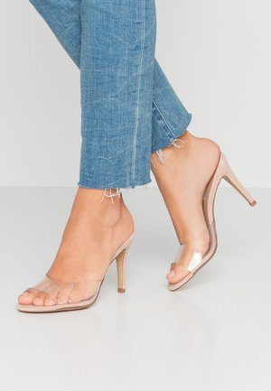ERIN - Heeled mules - clear