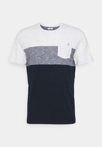 CUTLINE - T-shirt con stampa - white melange