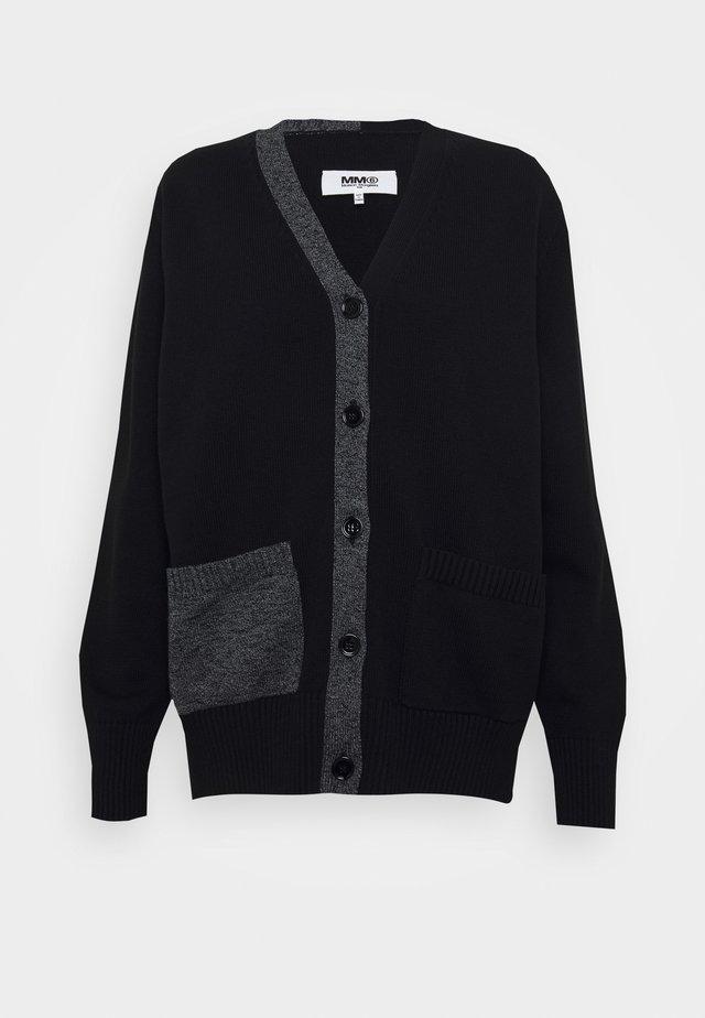 Strikjakke /Cardigans - black/grey