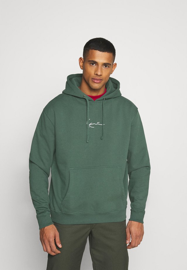 UNISEX SMALL SIGNATURE HOODY  - Hoodie - darkgreen