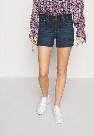 SHORTIE - Denim shorts - dark blue