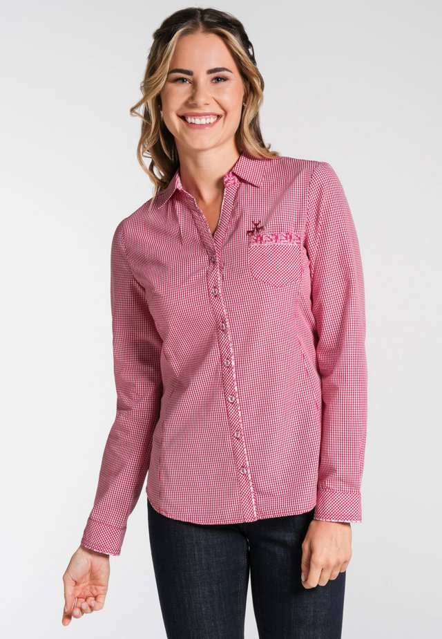 NEST - Button-down blouse - red