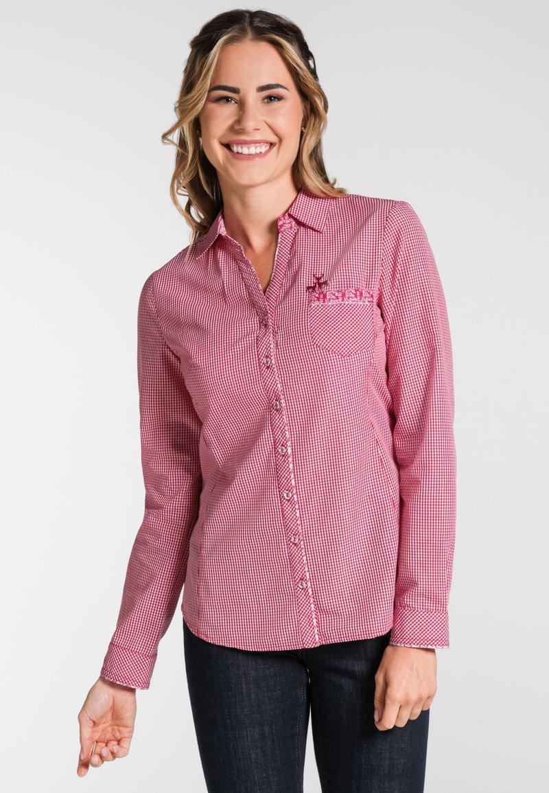 Spieth & Wensky - NEST - Button-down blouse - red