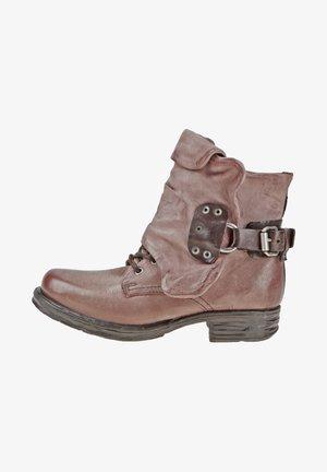 Cowboy/biker ankle boot - grunge