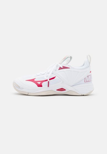 WAVE MOMENTUM 2 - Volleyball shoes - white/persian red/white sand