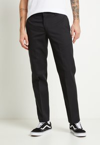 Dickies - 873 SLIM STRAIGHT WORK PANT - Kangashousut - black - 0