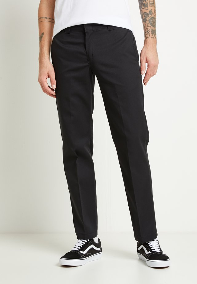 873 SLIM STRAIGHT WORK PANT - Kangashousut - black