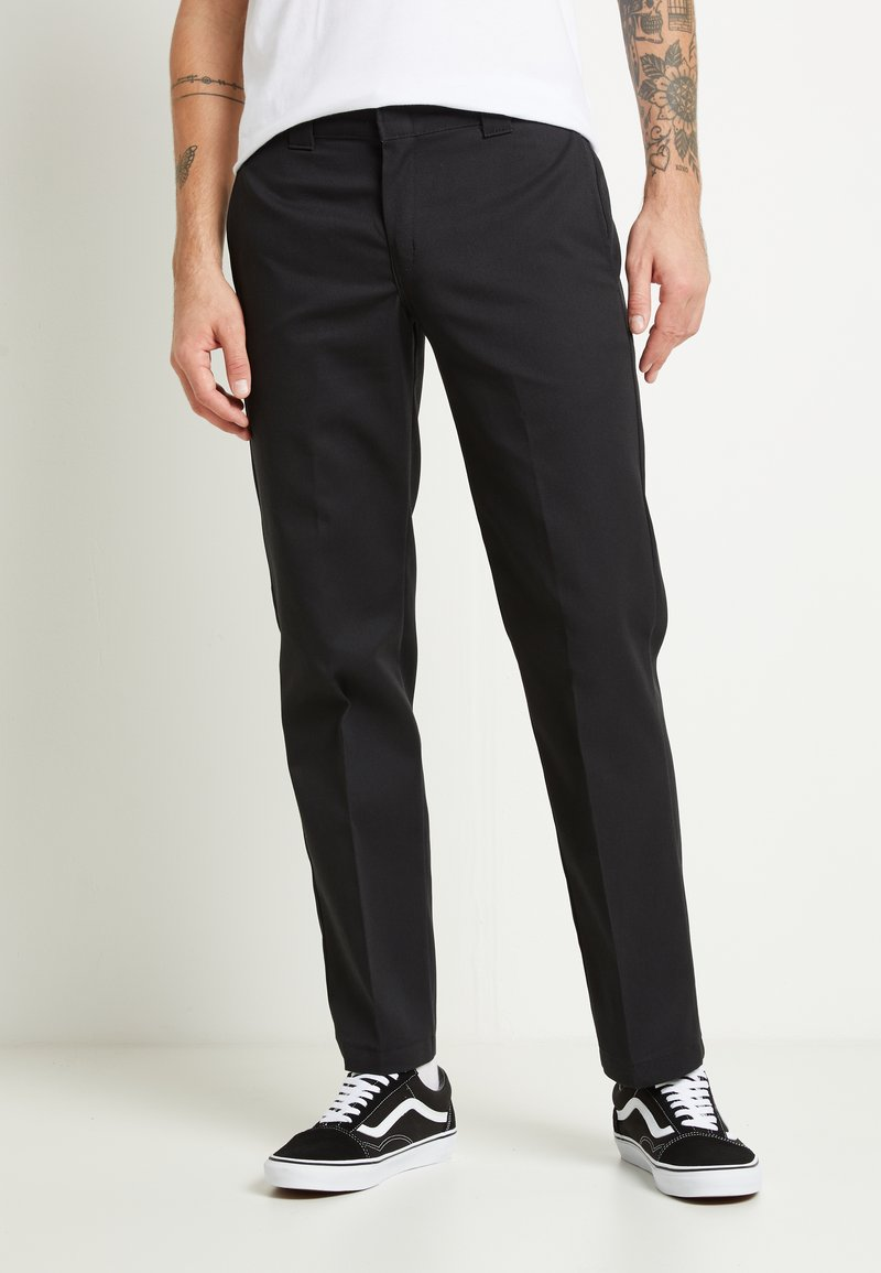 Dickies - 873 SLIM STRAIGHT WORK PANT - Kangashousut - black