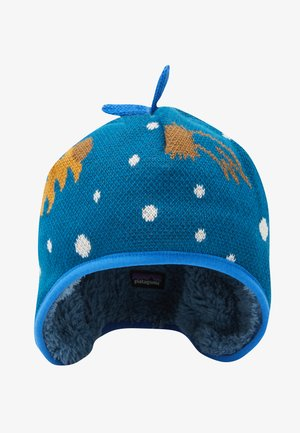 BABY REVERSIBLE BEANIE UNISEX - Muts - cosmic dreams/crater blue