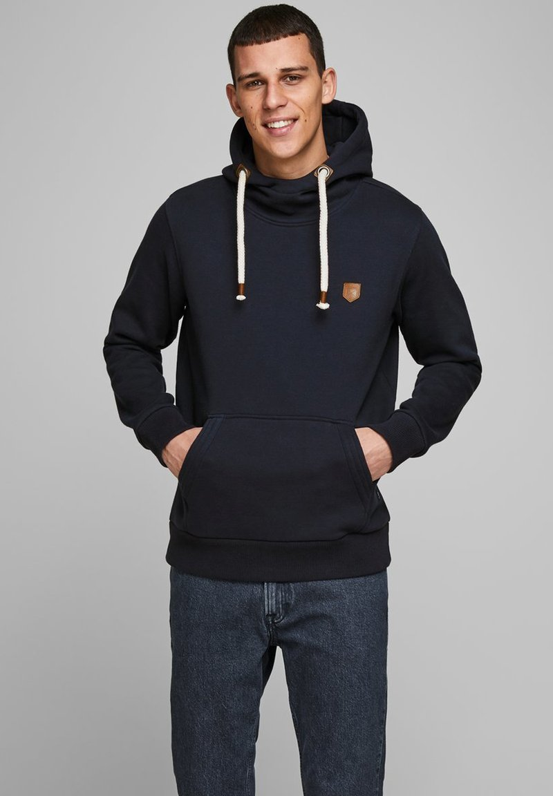 Jack & Jones PREMIUM - JPRBLUTOM HIGH NECK HOOD  - Sweat à capuche - navy blazer