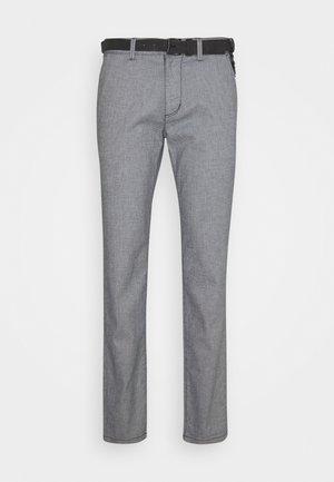 STRUCTURED - Chino kalhoty - navy/white