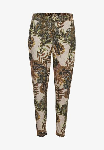 CRCINDY - Trousers - dull gold jungle