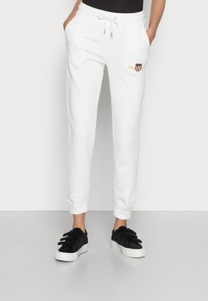 ARCHIVE SHIELD SWEAT PANT - Tracksuit bottoms - eggshell