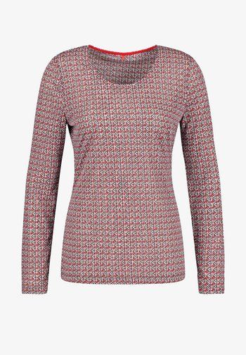 MIT STEINCHENZIER - Long sleeved top - red/white