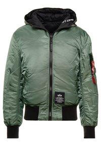 Alpha Industries - HOODED PUFFER - Light jacket - vintage green - 0