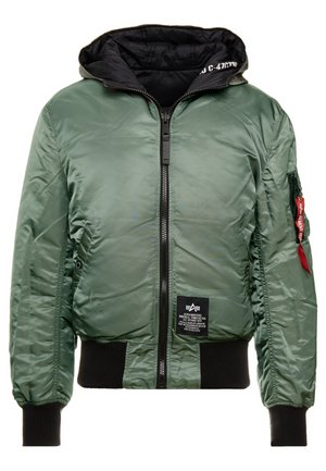 HOODED PUFFER - Light jacket - vintage green