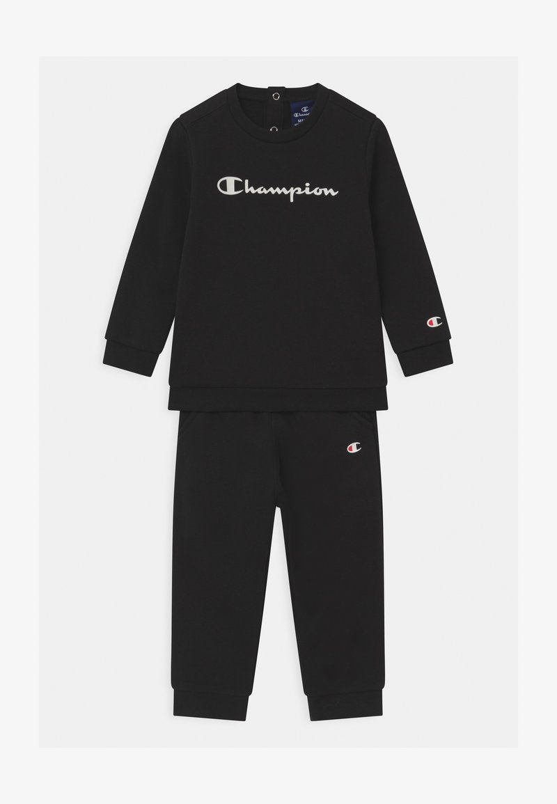 Champion - BASIC LOGO TODDLER CREWNECK SET UNISEX - Trainingspak - black