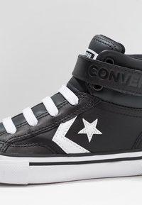 Converse - PRO BLAZE STRAP - High-top trainers - black/white - 2