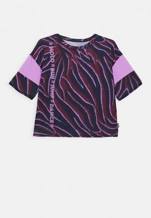ODESSA - Print T-shirt - bordeaux/dark blue/lilac