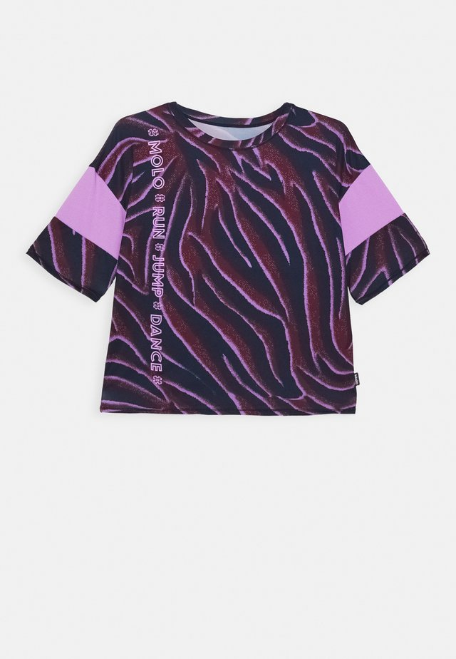 ODESSA - T-shirt med print - bordeaux/dark blue/lilac